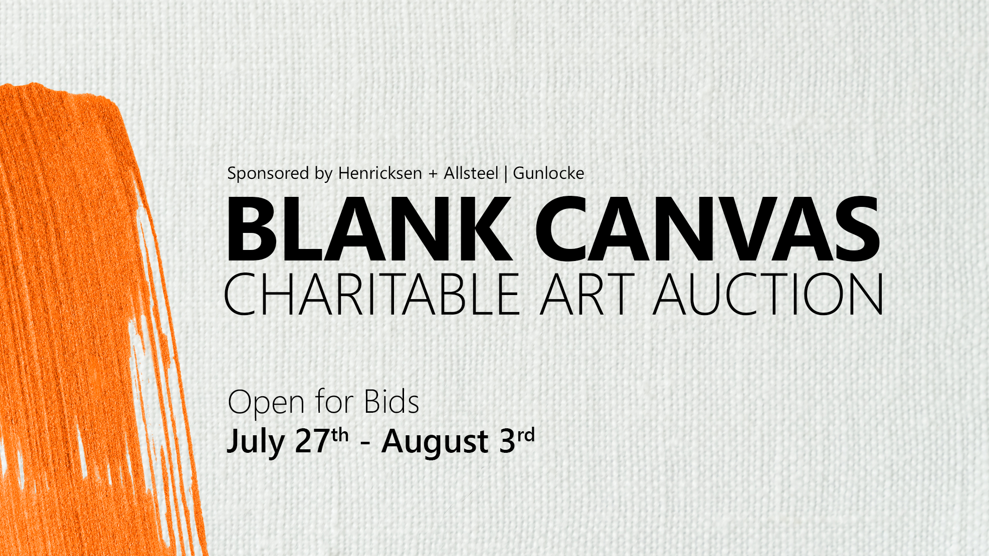 Blank Canvas Charitable Art Auction